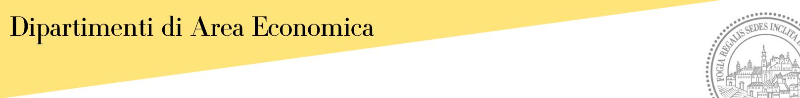 Banner Dipartimenti di Area Economica