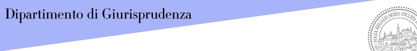 Banner Dipartimento di Giurisprudenza